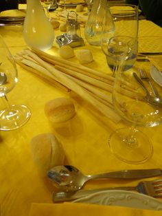Bread selection @ Ristorante Madonna della Neve