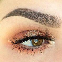 Copper neutral eye makeup #eyes #eye #makeup #glitter