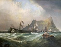Clarkson Stanfield - Neptune, Towing The Victory Into Gibraltar Harbour After The Battle of Trafalgar - Fine Art Print - Global Gallery