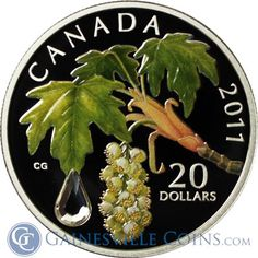 Raining here today, but rain can be gorgeous! Just like this 2011 Canada 1 oz Proof Silver Maple Leaf Crystal Raindrop!