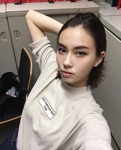 Lauren Tsai - illustrator & model - Pretty People, Beautiful People, Beautiful Women, Girl Crushes, Makeup Inspiration, Brows, Korean Fashion, Asian Girl, Short Hair Styles