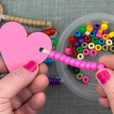 fine motor hearts lacing activity for preschool and kindergartn Small Group Activities, Sorting Activities, Teaching Activities, Activities For Kids, Crafts For Kids, Valentine Theme, Valentine Crafts, Friendship Activities, Starting A Daycare