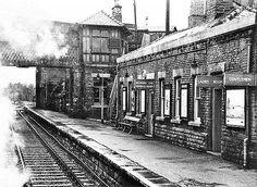 Disused Stations: Thongs Bridge Station Huddersfield Yorkshire, Huddersfield Town, Old Train Station, Train Stations, Altrincham, Disused Stations, Family History, Old Photos, Railroad Tracks