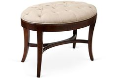 Oval Vanity Stool on OneKingsLane.com