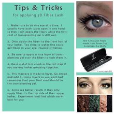 Tips on how to apply the 3-D Fiber Lashes mascara  ONLY $29   Party Link: http://www.youniqueproducts.com/HEWalden/party/3294882/view