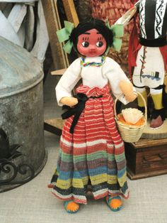 Vintage Mexican Souvenir Doll Vintage Child by wilshepherd on Etsy, $10.00