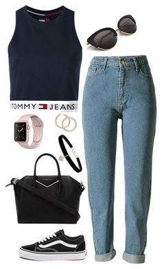 """Untitled #439"" by maria143sara ❤ liked on Polyvore featuring Tommy Hilfiger, Vans, Givenchy and Betsey Johnson"