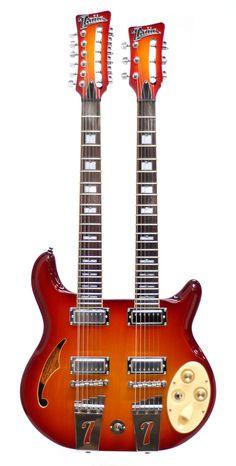 Italia Rimini 6 & 12 String Doubleneck Guitar --- https://www.pinterest.com/lardyfatboy/