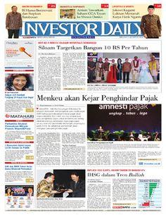 Investor Daily - 2 Agustus 2016   Menkeu Akan Kejar Penghindar Pajak   Investor Daily