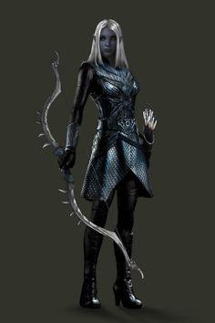 Fantasy Female Warrior, Fantasy Women, Dark Fantasy Art, Fantasy Artwork, Fantasy Character Design, Character Design Inspiration, Character Art, Dungeons And Dragons Art, Dungeons And Dragons Characters