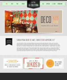 Web Design by SOPHIAN , via Behance