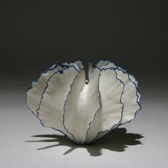 Vase by Italian-born, Copenhagen-based ceramic artist Sandra Davolio (b.1951). via beatpie