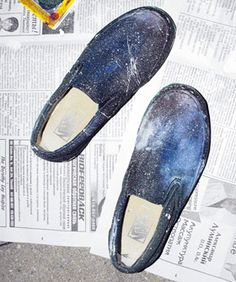DIY A Pair Of Cosmic Space Shoes