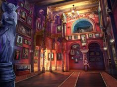 #art #gameart #interior #gamedev #gamedevelopmentart #madheadgames #gaming #games #game #lobby #arch #paintings #medieval #statue