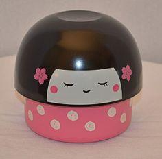 Kokeshi Pink 1 http://www.hanabentos.com/shop/kokeshi-doll-bento-ii/ #bentobox #lunchbox #bentoboxes