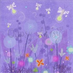 Fanciful Fireflies Canvas Reproduction