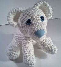 Amigurumi Polar Bear Cub - FREE Crochet Pattern / Tutorial