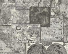 AS Creation Faro 4 behang 6643-27 Wereldkaart