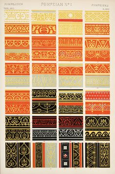 Jones, Owen, 1809-1874. / The grammar of ornament  (1910)    Pompeian ornament