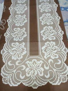 ru / Foto n. Crochet Dollies, Crochet Lace Edging, Crochet Doily Patterns, Crochet Art, Crochet Stitches, Embroidery Patterns, Crochet Table Runner, Crochet Tablecloth, Fillet Crochet
