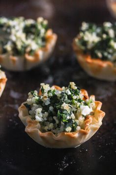 Spinach quinoa feta make ahead phyllo bites from lauren kelly nutrition Healthy Appetizers, Appetizer Recipes, Healthy Snacks, Simple Appetizers, Holiday Appetizers, Healthy Weekly Meal Plan, Vegetarian Recipes, Healthy Recipes, Dip Recipes