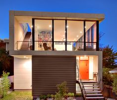 Luxury Small House Design with Low Cost Budget - Sometimes the cost is often an obstacle for everyone to have a nice and modern house. Ideally, modern and nice house design should be in accordance with the budget. But, how about this small modern hou Modern Small House Design, Small Modern Home, Tiny House Design, Modern Design, Cabin Design, Deck Design, Front Design, Design Exterior, Modern Exterior