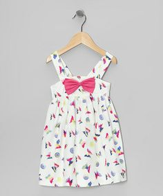 Love this White & Fuchsia Butterfly Bow Dress - Infant & Toddler on #zulily! #zulilyfinds