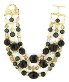 Tony Duquette (American, 1914-1999), 1990s. A green amber, citrine and vermeil necklace, length 17in (43cm). Soldfor $732