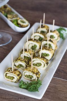 These juicy, tasty chicken rolls seasoned with delicious basil pesto are perfect appetizer for any table.
