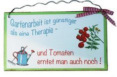 Türschild Humor Geschenk Garten von Un-Art-Tick auf DaWanda.com