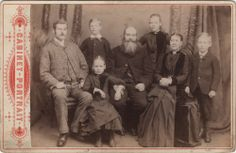 Cabinet photo Victorian Family - taken in Bedlington, Northumbria around late 1890s by T. Blacklock at his studio located at Vulcan Place.