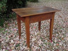 Items similar to Antique Primitive Heart Pine End Table, Bedside Table or Small Desk on Etsy Primitive Tables, Pine Furniture, Small Heart, Bedside, End Tables, Colonial, Craft Ideas, Homes, Decorating