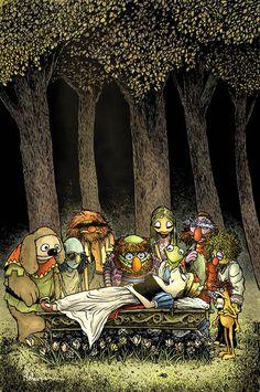 Image credit: David Petersen for BOOM! Studios    Muppet Snow White #3