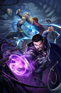 Doctor Strange & Thor - Patrick Brown