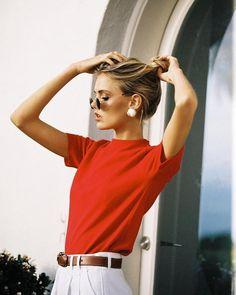 steile rote red Stimmung Mode-Look Stil Mode-Klass Look Fashion, 90s Fashion, Fashion Outfits, Fashion Trends, Womens Fashion, Dress Fashion, Winter Fashion, Airport Fashion, Fashion Mode