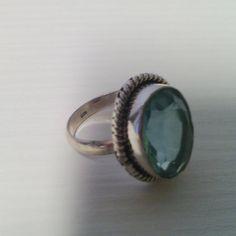 Anello pietra quarzo azzurro 925 Serling sllver di Rosasbijoux
