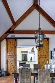 Hamptons Farmhouse Dining Room Yankee Barn Homes