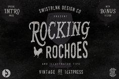 Rocking Rochoes Typeface by Swistblnk Design Std. on @creativemarket