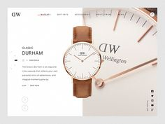 Daniel Wellington Product Page designed by 𝔅𝔢𝔰𝔱𝔖𝔢𝔯𝔳𝔢𝔡𝔅𝔬𝔩𝔡 for green chameleon. Connect with them on Dribbble; User Interface Design, Ui Ux Design, Site Design, Layout Design, Web Design Inspiration, Creative Inspiration, Number Tattoo Fonts, Learn Web Design, Interactive Websites