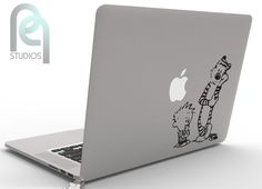★★★ About: Decal is made from high grade self adhesive matte vinyl. It is very durable and is water and oil proof. It can hold for up to 5 Macbook Pro Stickers, Laptop Decal, Calvin Y Hobbes, Laptops, Adhesive, Decals, Joy, Make It Yourself, Eyes
