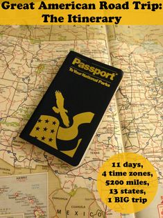 Great American Road Trip - The Itinerary: 11 days, 4 time zones, 5200 miles, 13 states, 1 BIG trip