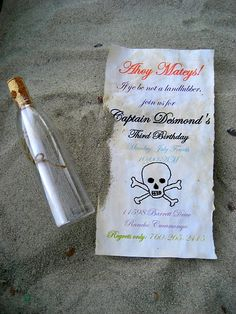 Pirate Party Invites (also lots of other pirate party ideas on this post)