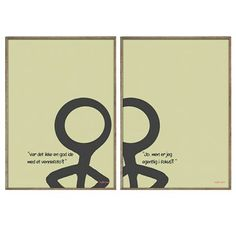 "By Frank. Poster: Stickmen - ""Selfie"" B2/H. 70 cm x B. 50 cm DKK 550,00"