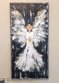 Angel painting, angel art, spiritual art, inspirational art, angel wings, religious art by AshleyBradleyArt on Etsy https://www.etsy.com/listing/524227618/angel-painting-angel-art-spiritual-art
