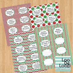 Printable Advent Calendar Activities DIY Digital PDF by LooDeLoop, $4.50