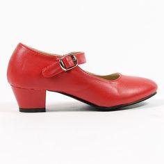 Spaanse schoenen rood www.laluzz.nl