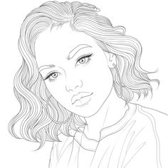 Tumblr Coloring Pages, Dover Coloring Pages, People Coloring Pages, Adult Coloring Book Pages, Cute Coloring Pages, Coloring Pages For Girls, Coloring Books, Girly Drawings, Colorful Drawings