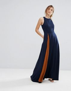 Ted Baker Contrast Pleat Maxi Dress