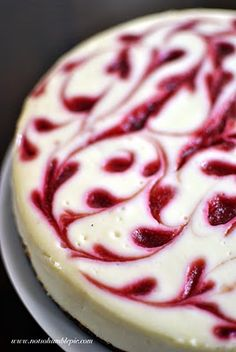 Raspberry Swirl Cheesecake --- again though the recipe calls for graham cracker crumbs, just use ground almonds or almond flour. It actually makes a delicious crispy nutty rich crust.