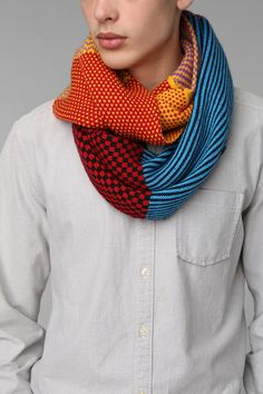 Patchwork Eternity Scarf $38 http://www.urbanoutfitters.com/urban/catalog/productdetail.jsp?id=29013109&parentid=MENS_ACCESSORIES
